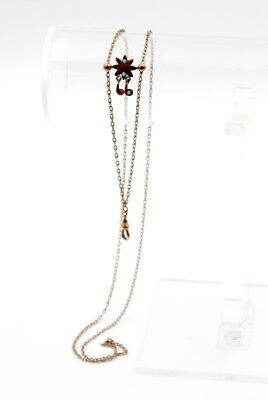 Antique Victorian Gold Filled Opal & Red Glass Accented Watch Fob No Res #4149-7