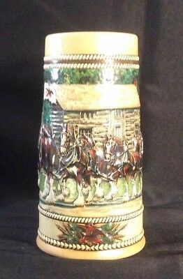1988 National Landmark Grants Cabin Budweiser Beer Stein In Box CS 83 (E5BD)