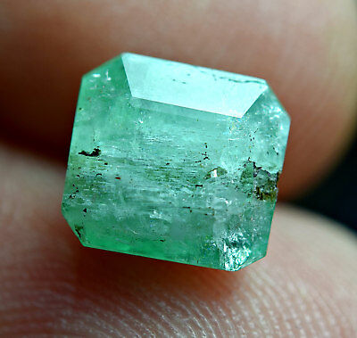 2.43Ct light color Emerald combine with mica inclusion cut gemstone@laghman AFGH