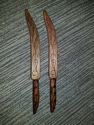 UC legolas fighting knives customized UC1372 with hand made scabbards
