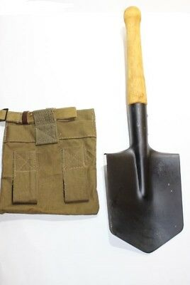 Russian Soviet Army Sapper Spade Small Infantry Shovel Military With Case Bag