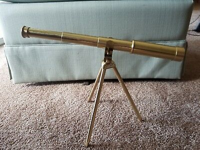 Vintage Nautical Brass Antique Spyglass With Brass Tripod in Early Winters box