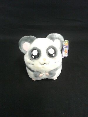 """Hamtaro 6"""" Plush Coin Bank  by Street Players  White/gray with pink ears"""