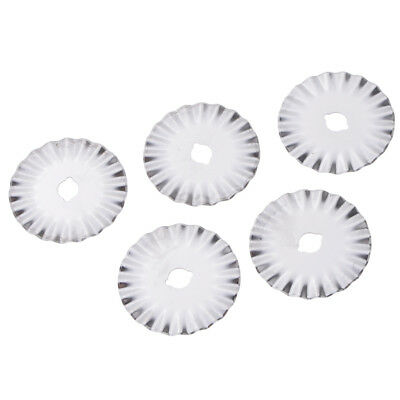5pcs 45mm Heavy Duty Rotary Cutter Spare Pinking & Wave Cutter Blades Refill