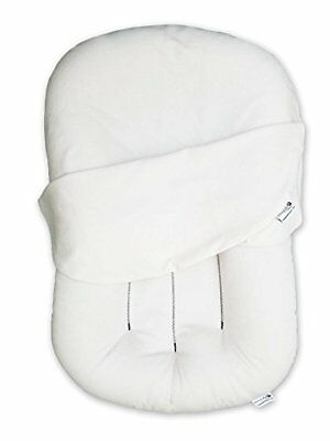 Snuggle Me Organic Original | Patented Sensory Lounger for Baby | WHITE