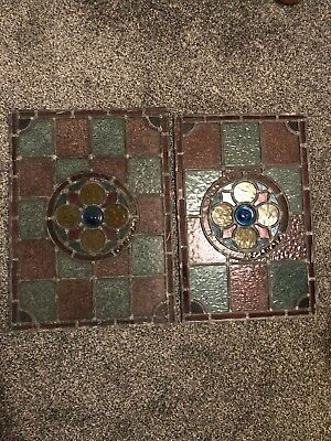 Antique Lead Stained Glass Windows Stainglass Salvage Vintage Pane