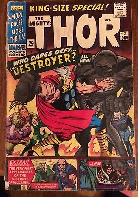 THOR  #2  KING SIZE SPECIAL DESTROYER 1966 VG- cent copy annual