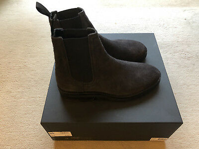 1765d6b9b Yeezy Season 6 Shaggy Suede Chelsea Boots Graphite Size 40 Uk 6 Brand New  In Box