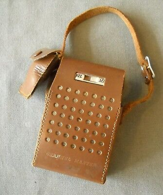 Vintage Red Channel Master Am Six Transistor Radio Leather Case And Ear Phones