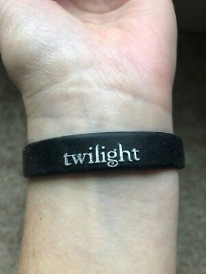 Promotional rubber bracelet for first Twilight movie, original from 2008