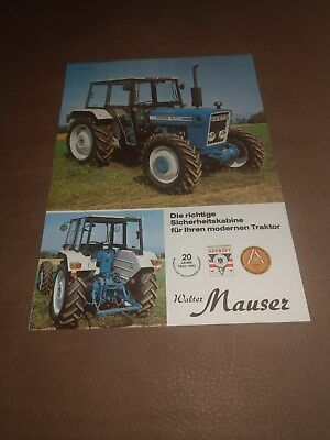 Ford 3600 4600 5600 6600 tractor Walter Mauser cab brochure Ford New Holland