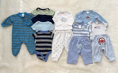 Lot of Baby Boys Clothes Outfits 0-3 Months