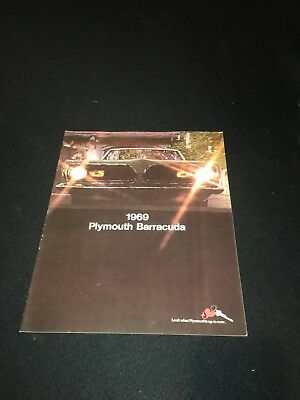 1969 Plymouth Barracuda Brochure From Dealer Showroom