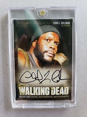 The Walking Dead S. 3 Pt.2 Autograph Card A18 Chad L. Coleman As Tyreese w/case