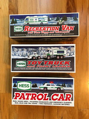 Hess Toy Trucks Lot Of 3,  Mint, New In Boxes, 1993, 1998, 2008 (Never Opened)