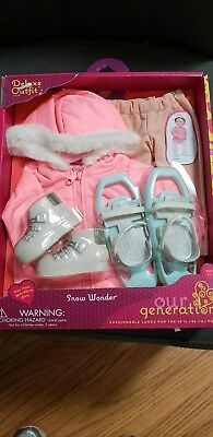 """AG Our Generation Snow Wonder 18"""" Girl Doll Clothes Winter Ski Coat Outfit NEW"""
