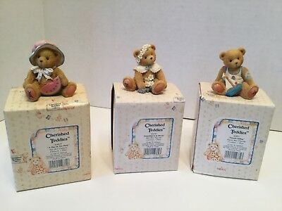 Cherished Teddies Lot of 3 May, July, August Bears Lot of 3 Bears
