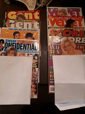 Vintage mens glamour magazines (16 total) OVER 18s ONLY