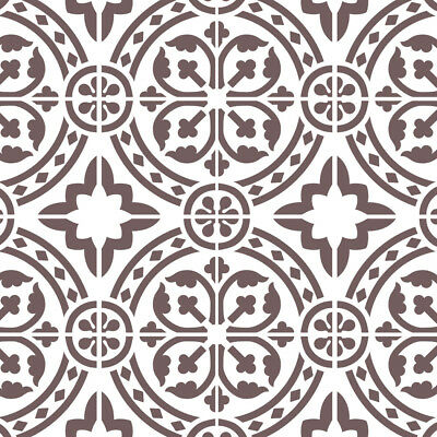 Wall Moroccan Reusable Tile Stencil T0067 for DIY Wall Decor Furniture Floor