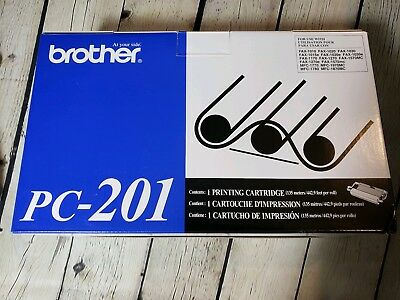 Brother, Authentic, PC-201, NIB. Set Of TWO! Printing Cartridges, $28 retail ea.