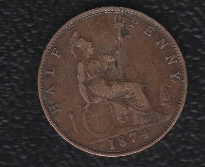 Great Britain Half Penny 1874