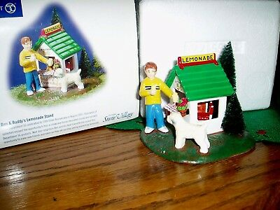 Dept 56 Snow Village ~ Ben & Buddy's Lemonade Stand ~ New In Box 55144
