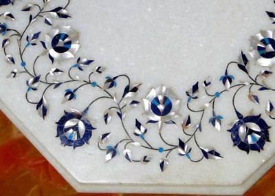 Semi precious stones Coffee table Hand crafted marble Table top Inlay India