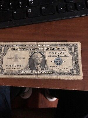 1957 A OR B One $1Dollar Silver Certificate Notes Old US Currency FREE SHIPPING