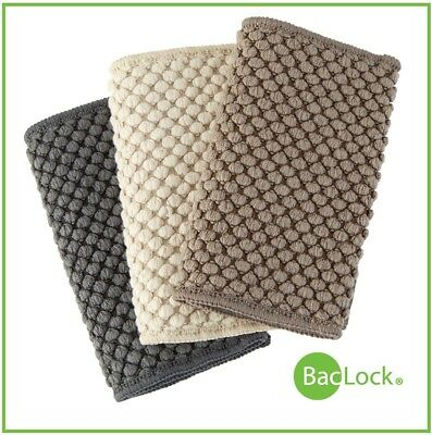 NORWEX New COUNTER CLOTHS 3 Cloths in Slate, Vanilla, Mushroom ~Super Absorbant!