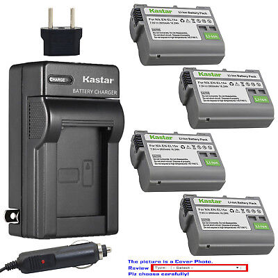 Kastar Battery AC Charger for Nikon Original EN-EL15a EL15 Nikon Genuine MH-25a