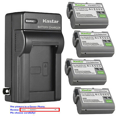 Kastar Battery Wall Charger for Nikon EN-EL15 EN-EL15a Nikon D7200 DSLR Camera