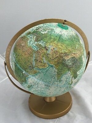 "Vintage Replogle Globe 12"" World Ocean Relief"