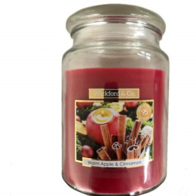 Wickford & Co Large Jar Luxury Scented Christmas Candle – Warm Apple &