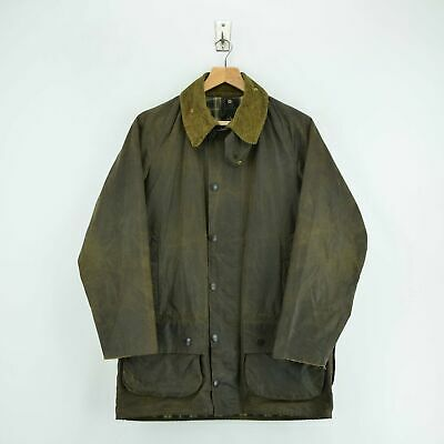 Vintage Barbour A50 Moorland Wax Jacket Hunting Coat Made In England M