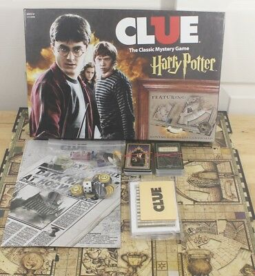 Hasbro 2016 Harry Potter Clue Classic Mystery Hogwarts Complete Board Game