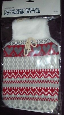 Skin Therapy 2 Litre Knitted Fairisle Hot Water Bottle Cover Only