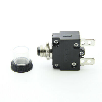 12 Amp Thermal Circuit Breaker AC DC 12a Push-to-Reset Panel Mount