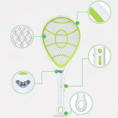 Bug Zapper Electric Tennis Racket Mosquito Fly Swatter Killer Insect Handheld *