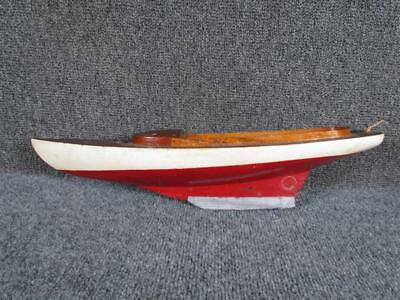 ANTIQUE AMERICAN early 1900s HAND MADE SHIP or POND BOAT MODEL