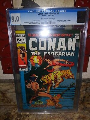 Conan the Barbarian 5 CGC 9.0 Low Starting Bid on all auctions!!!