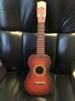 "Vintage REGAL Ukulele Made in Chicago USA 21"" Antique Soprano Concert SOLID WOOD"