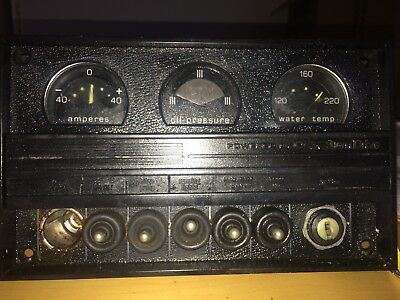 Powered by OMC STERNDRIVE INSTRUMENT GUAGE CLUSTER LATE 70'S EARLY 80