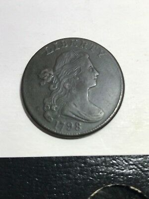 1798 Draped Bust Large Cent, 2nd Hair Style - High Grade BEAUTIFUL! Estate Fresh