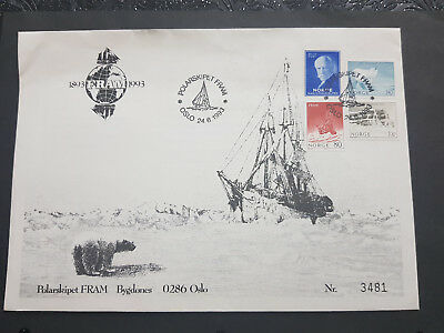 Norway 1993 FDC Polar ship franked with 4 stamps #05