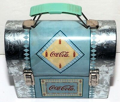 "Vintage & Rare - Coca-Cola Tin Collectible - Medium Metal Tin Lunch Box 5 1/2"" W"