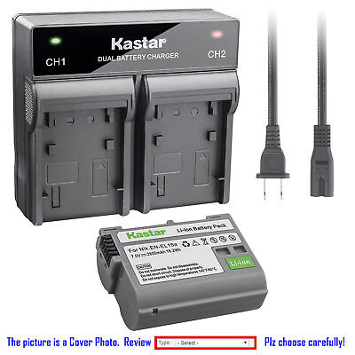 Kastar Battery Rapid Charger for Nikon Original EN-EL15a Nikon Genuine MH-25a