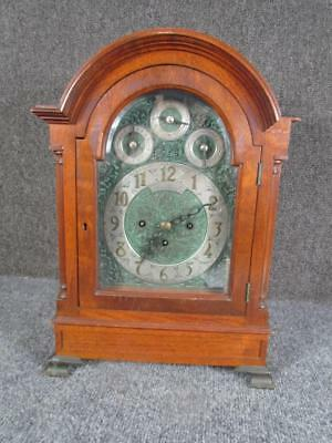 ANTIQUE FUSEE ENGLISH 8 BELL, 5 CHIME 3 TRAIN BRACKET CLOCK signed J.J.ELLIOT