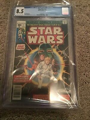Star Wars 1! 1977 Marvel Comic Key Comic CGC 8.5 Blue Label