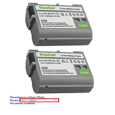 Kastar Replacement battery for Nikon EN-EL15 EN-EL15a Nikon D7500 DSLR Camera