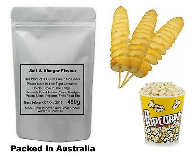 Spiral Potato Seasoning Salt And Vinegar Flavour Gluten Free 490G